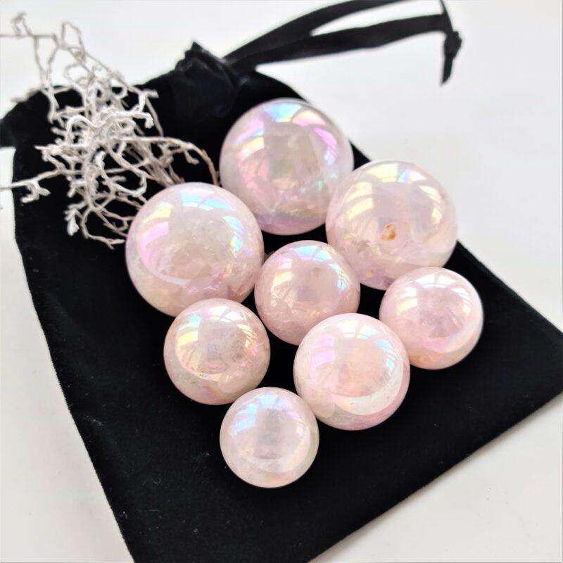 rose aura quartz kulor