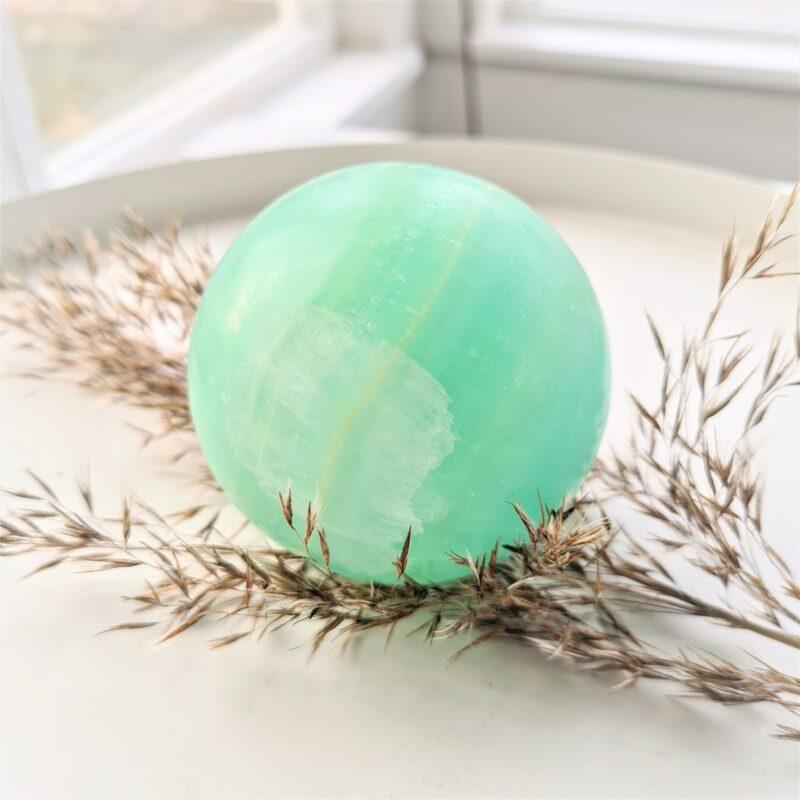 grön kalcit - stor kula