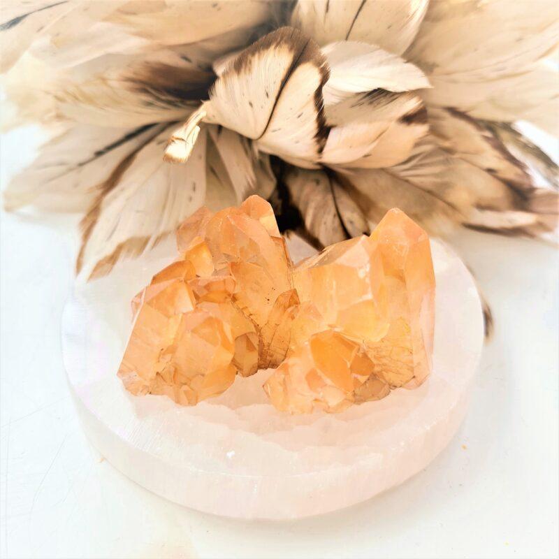 mandarin/tangerine kvarts kluster #3