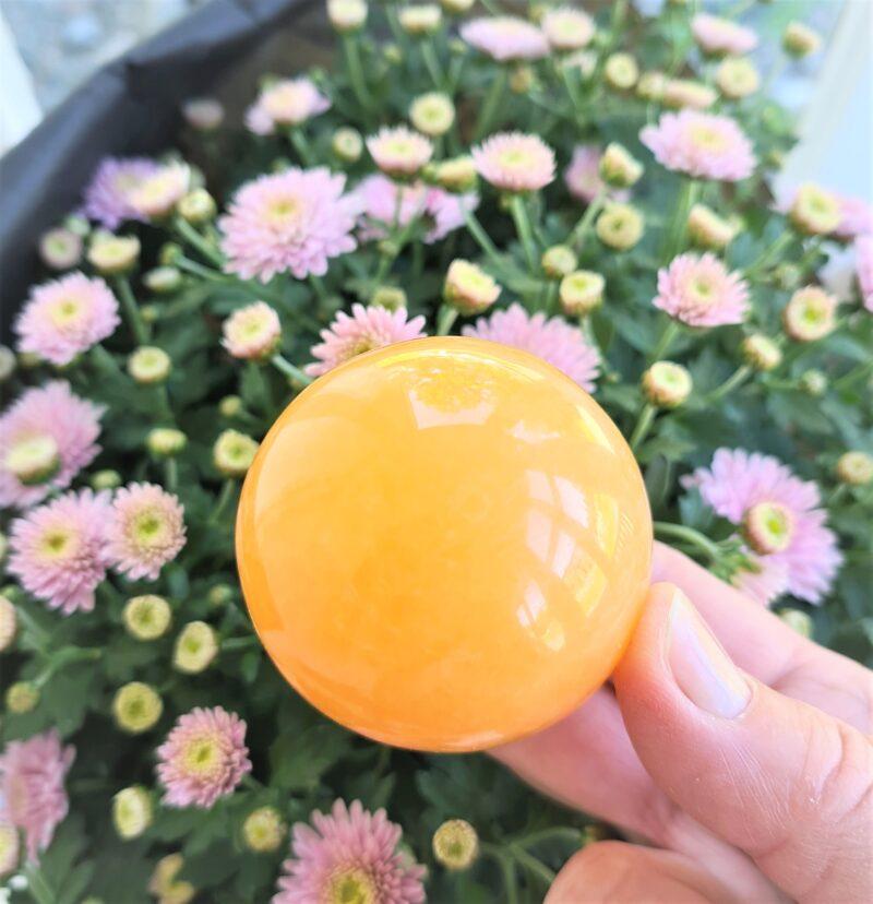 orange kalcit -stor kula