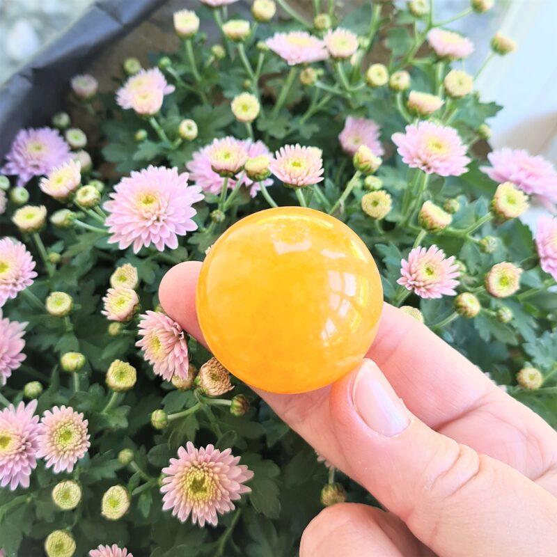 orange kalcit - mellanstor kula