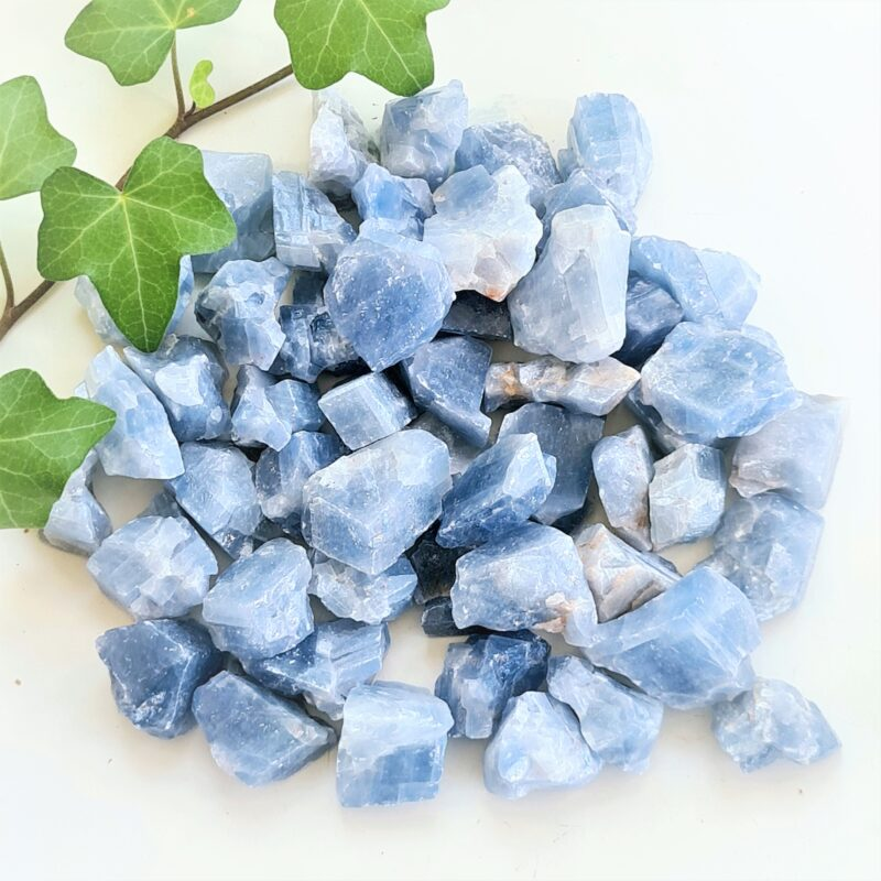 blå kalcit - rå
