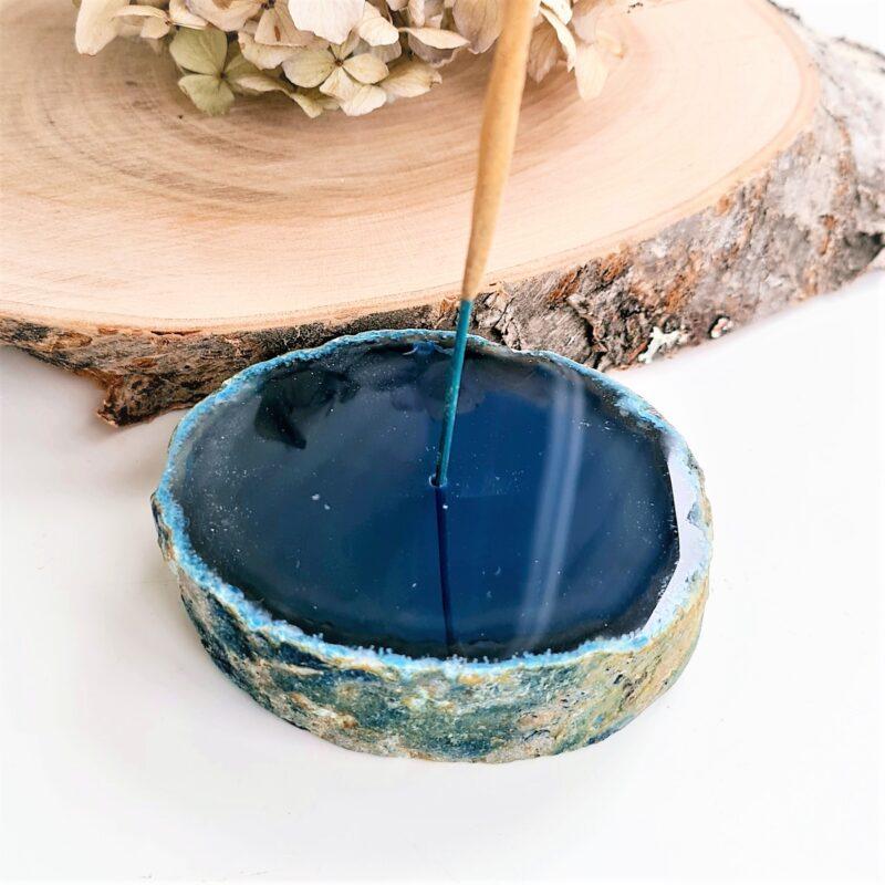 rökelsehållare blå agat #2