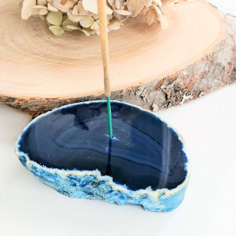 rökelsehållare blå agat